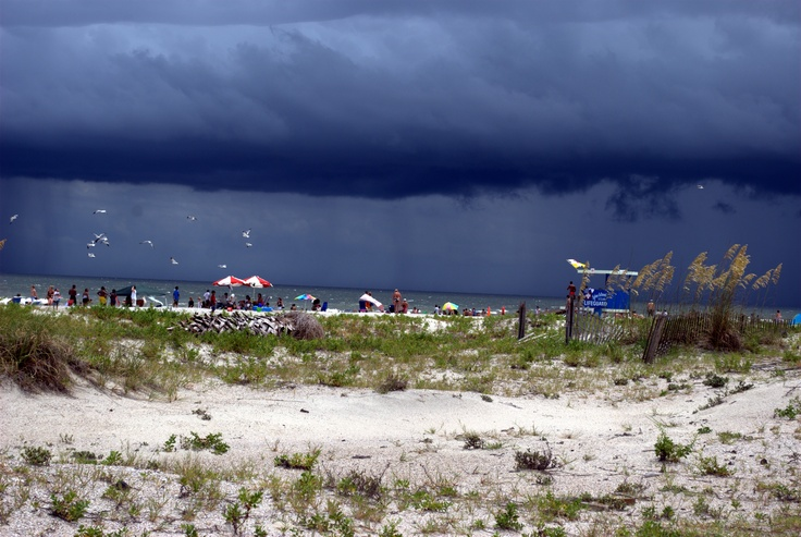 Storm over Tybee Island, Georgia.  Would love to visit again...