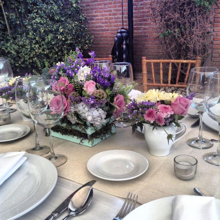 Centro de mesa con guacal boda a g pinterest - Centros de mesa otonales ...