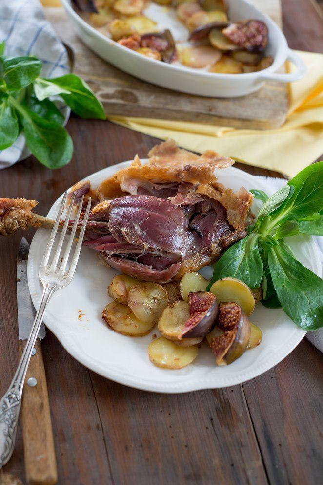 Enten-Confit  à la Sarlat mit Zimt, Kartoffeln & Feigen (Confit de canard à la cannelle)
