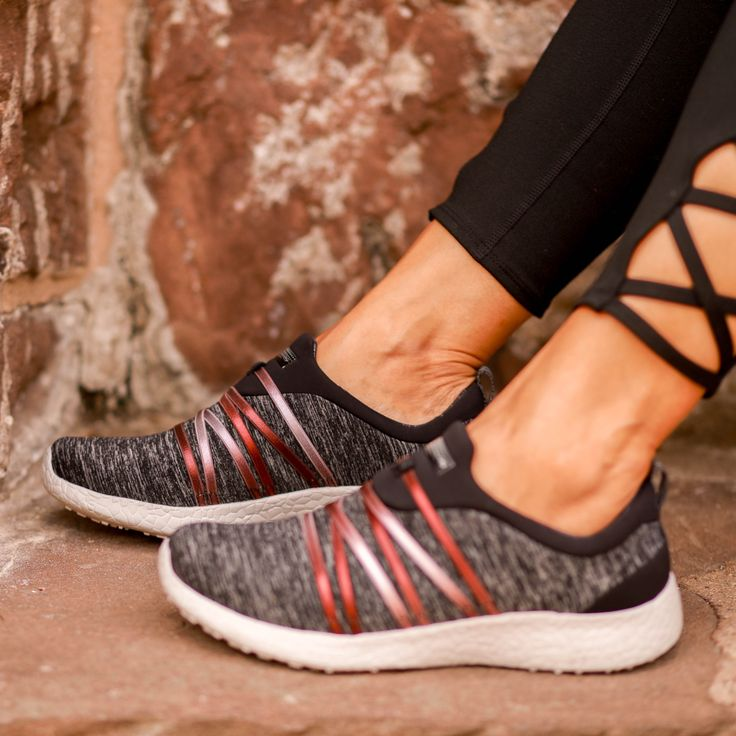 One of our comfiest #SKECHERS Burst styles yet.