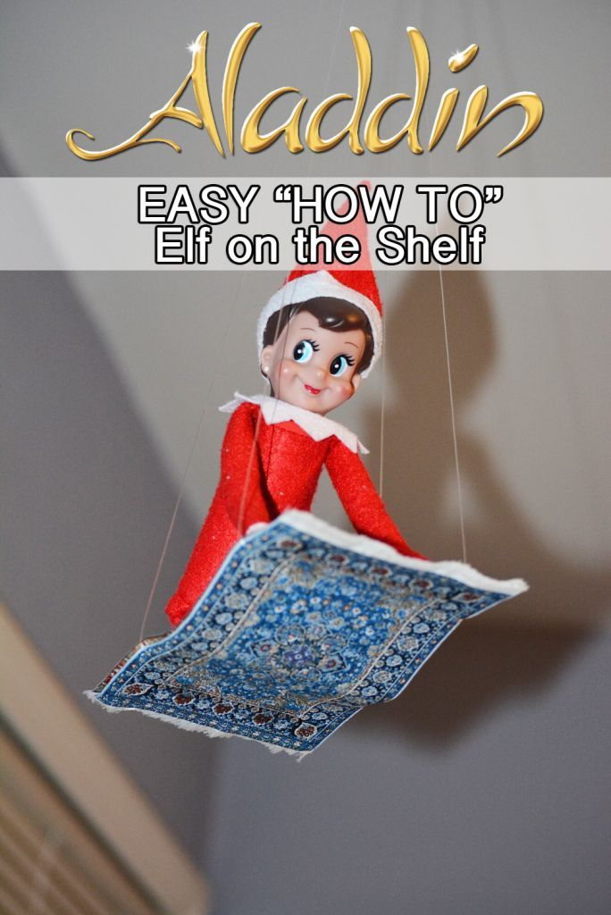 Elf on the Shelf Aladdin Flying Carpet! PLUS tons of other Elf on the Shelf Ideas! www.enzasbargains.com/elf-on-the-shelf-aladdin-flying-carpet/
