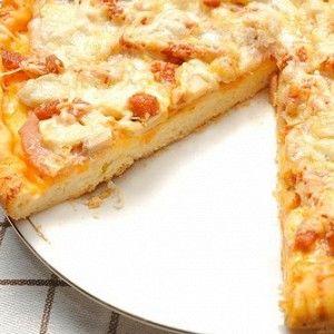 Яблочная пицца с ветчиной