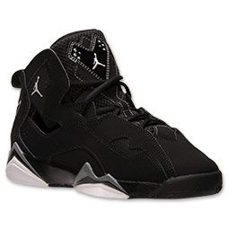 <p>Fly high in a new basketball shoe that resembles the Air Jordan VII. The Boys' Grade School Jordan True Flight Basketball Shoes features an outsole with herringbone traction and Zoom Air insoles for added cushioning. The colorway features an all black upper including plenty of contrast stitching and patent leather accents.</p> <p>FEATURES: </p> <ul><li>UPPER: Nubuck and synthetic</li> <li>MIDSOLE: Rubber</li> <li>OUTSOLE: Rubber with herringbone traction</li> <li>IMPORTED</li></ul>