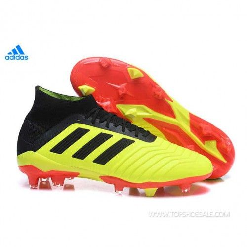 774ef31f377 2018 FIFA World Cup adidas Predator 18.1 FG DB2037 Solar Yellow Core Black Solar  Red Football shoes