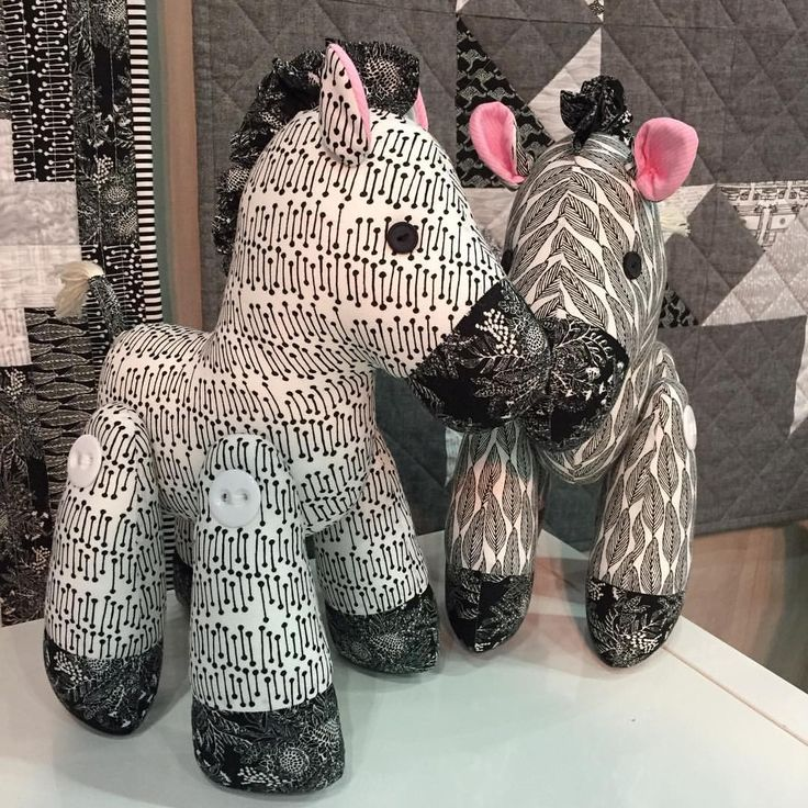 How cute are these 'Zakky' zebras by @mellyandme made in @emmajeanjansen new collection Classics... * * #ellabluefabrics #ellablue #quiltmarket #ejjclassics #mellyandme #quiltmarket #internationalquiltmarket2017