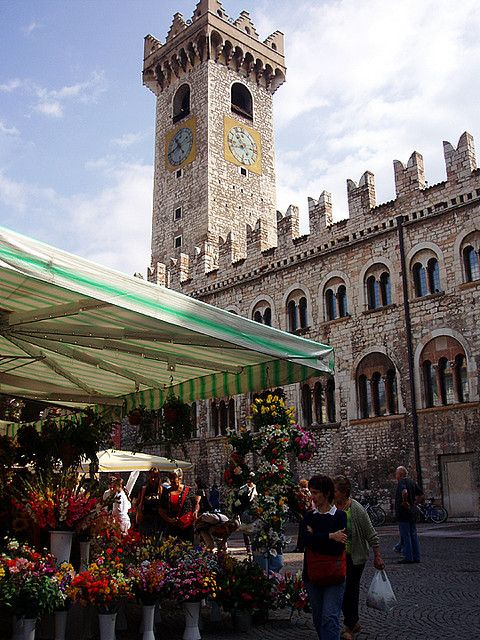 market day in Trento, Trentino - Alto Adige, Italy
