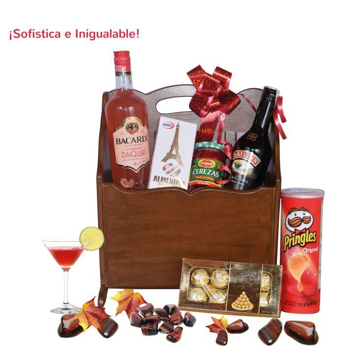 Una combinación de licores deliciosos y fina dulcería para disfrutar en cualquier momento.