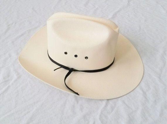 Vintage Cowboy Hat Vintage Stetson White Cowboy Hat by JupeDuJour