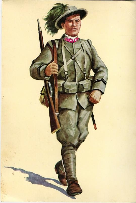 Regio Esercito - Bersagliere in tenuta da campagna 1915-18