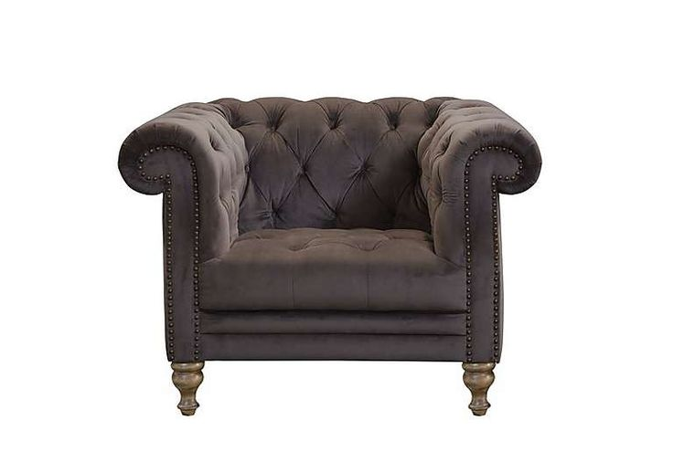 New England Yale Fabric Armchair