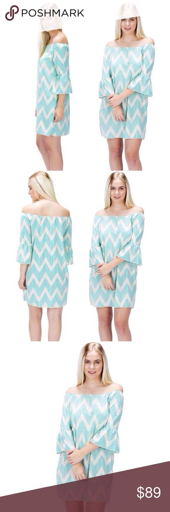 💖SERAPHINA Patterned Off Shoulder Dress ‼️SERAPHINA Blue and White Patterned Off Shoulder Dress🔆🔆🔆Super cute and pretty! This dress is great for spring, summer, and all season. We bought this on our trip to Europe. parties beach road trips shopping night out vacation traveling cruises after work attire girly.  prep preppy trendy in style stylish sophisticated classy chic fun pretty beautiful shirt popular fashion womens club party wedding bridal showers baby showers birthdays dinners…