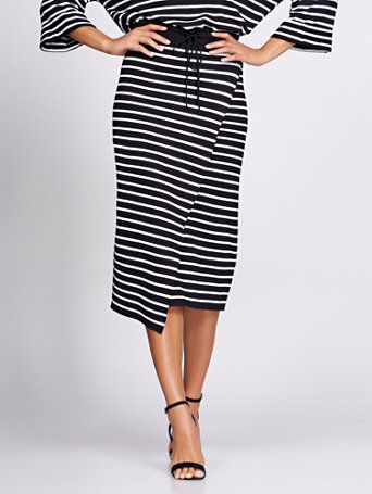fb7ac9aec4 Gabrielle Union Collection - Stripe Wrap Sweater Skirt in 2019 ...