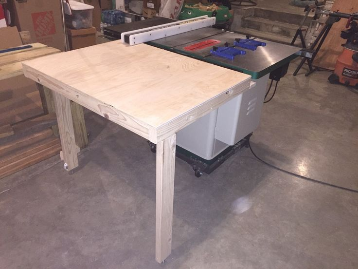 Collapsible out feed table for table saw grizzly G0690 | Indianaworkshopjones.com | Antique ...