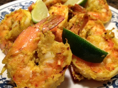 Coconut Masala Shrimp, found on  http://indianmomdotcom.blogspot.com/2013/04/a-nice-cold-beer.html