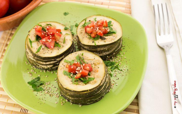 Tortine di zucchine vegetariane