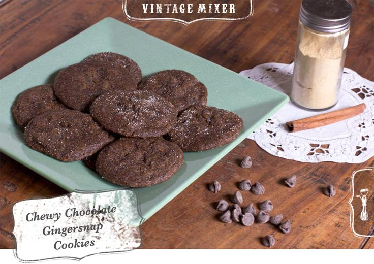 gingersnaps in a rich chocolate cookie • Chewy Chocolate Gingersnap ...