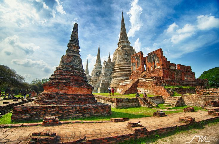 Wat Phra Si Sanphet in Ayutthaya Thailand..... It was built by King Boromatrailokanat in 1448 and was one of the grandest temples in the ancient capital.