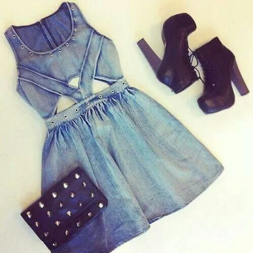 denim dress outfit
