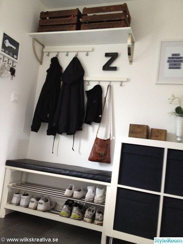 IKEA, floor tiles, shoe rack, candle holder, boxes