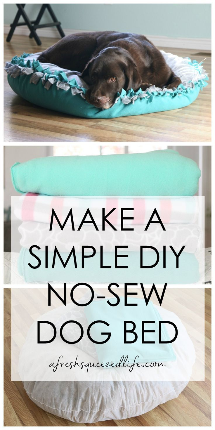How To Make A Diy No Sew Dog Bed In 2020 Stuff