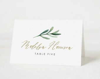 Place cards Template  Printable Wedding Place Cards