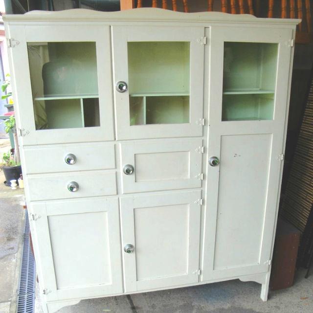 Vintage Leadlight Kitchen Cabinet