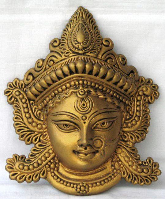 Wall Hanging Durga Mask Terracotta Decor Terracotta