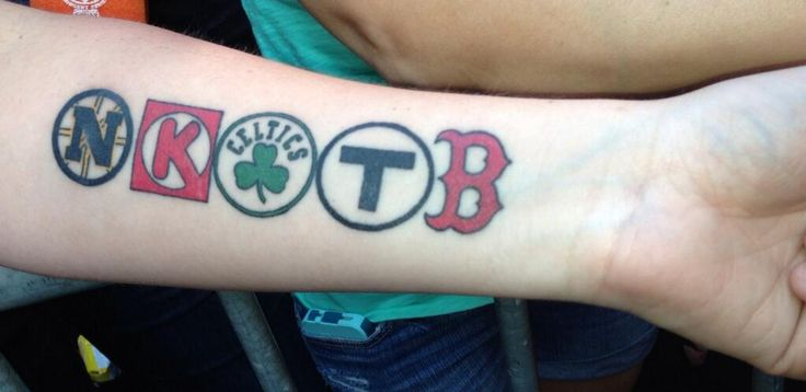 Which board is best for this? Spelled correctly, but still wow. NKOTB/Boston tattoo.