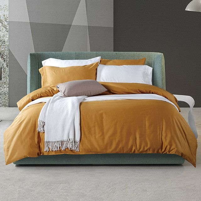 100% Egyptian long-staple cotton Bedding set Luxury Gift Adult Bedding set Brown coffee Grey Bedding Duvet cover set