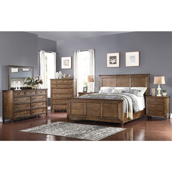 Abbyson Cypress Weathered Oak 6 Piece Queen Bedroom Set | Overstock.com  Shopping   The