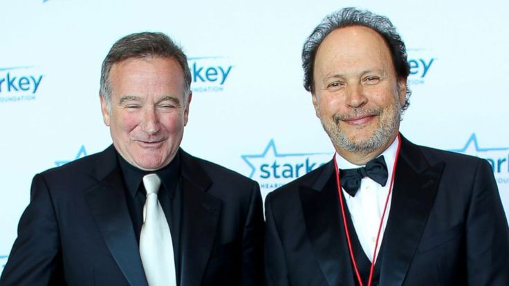 Robin Williams and Billy Crystal walk the red carpet before a gala on August 4, 2012 in St. Paul, Minnesota.