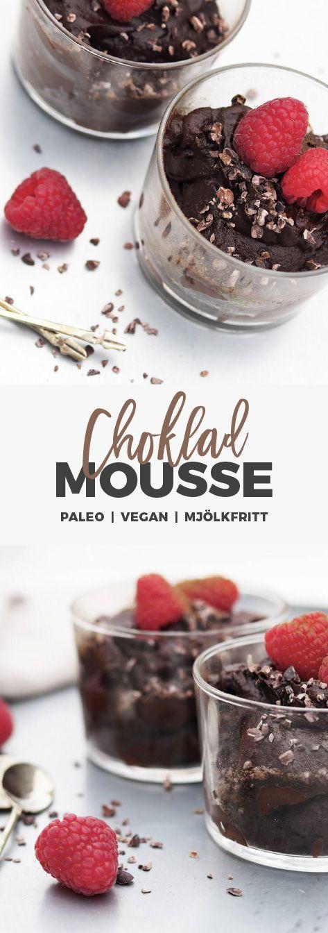 recept: chokladmousse med avokado och lakrits. Paleo, vegan, mjölkfritt