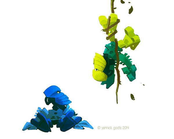 """You called, Becca?"" Art by Yannick Godts AKA ""Boy with a Blue Umbrella"""