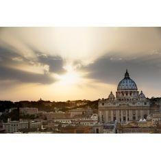 Vatikan, Blick von der Dachterrasse der Engelsburg zum Petersdom, Rom, Italien, Fototapete, Merian, Fotograf: G. Hänel
