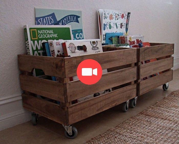 1001 + ides pour dtourner une caisse en bois ikea #renovationdechambre #ideesdechambre ...