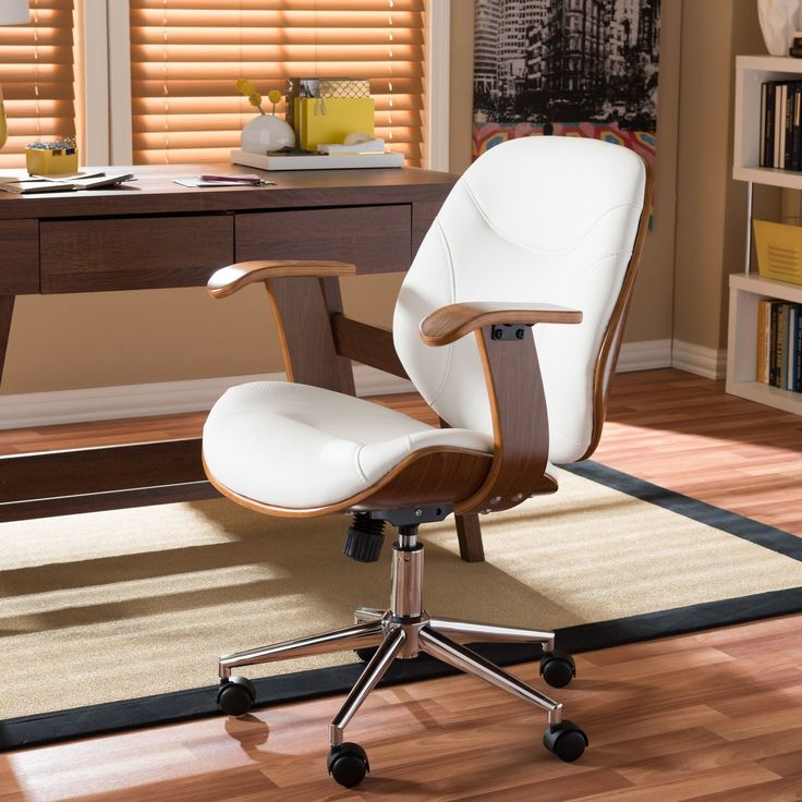 Baxton Studio Rathburn Walnut Modern Office Chair #officedesign