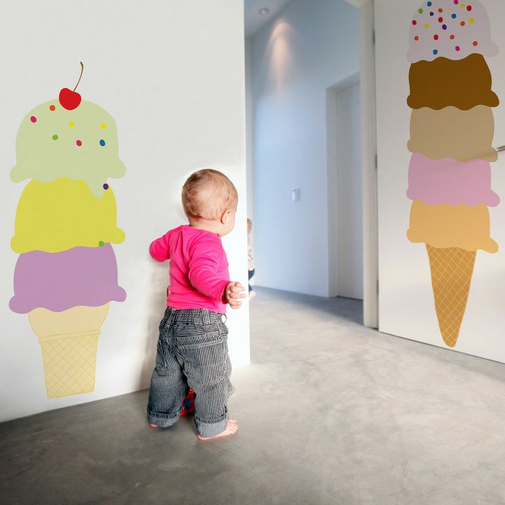 Maybe for the office? Or home? Ice Cream Cones Set Of 46 @whatisblik, 30% off now featured on Fab.Fab.comStop repainting and wallpapering un...