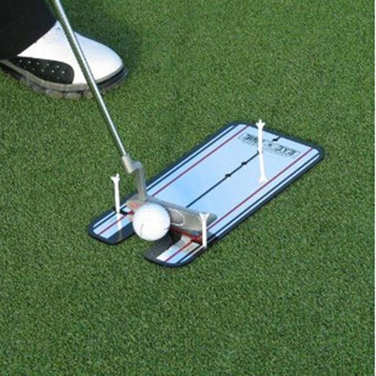 31x14.5 cm Golf Putting Miroir Alignement Aide à La Formation De Golf Swing Formateur Eye Ligne Golf Putting Miroir