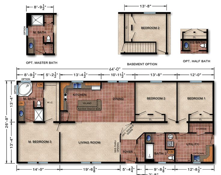 Michigan manufactured homes floor plans for Michigan house plans