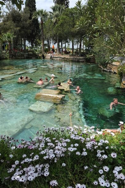 Thermal spa of Hierapolis in Denizli province, southwestern Turkey. Fifteen sites in Turkey now on UNESCO World Heritage List