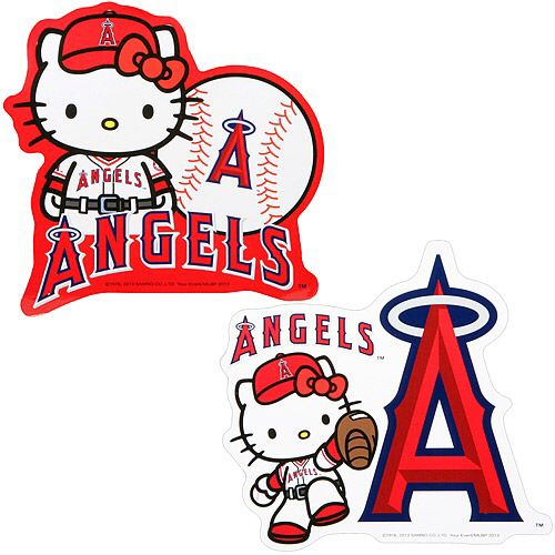 24c342b25 Pin by Michelle Guyer on Love Angels Baseball | Cat stickers, Hello kitty,  Angels baseball