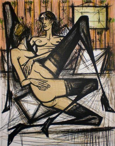 """Bernard BUFFET- """"Jeux de Dames"""" - 1970"""