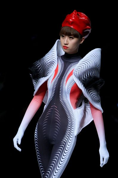 A model walks the runway during Beijing Institute of Fashion Technology and Taiwan Shih Chien University  Graduates Show at China Fashion We...