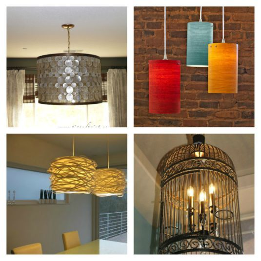 """Think Outside the Box"" DIY Lighting....10 very classy examples with tutorials."