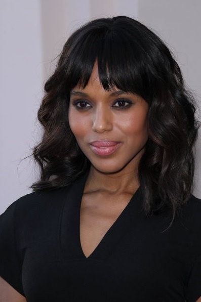 17 Best images about Hair styles on Pinterest | Feathers, Fringe bangs and Kerry washington hair
