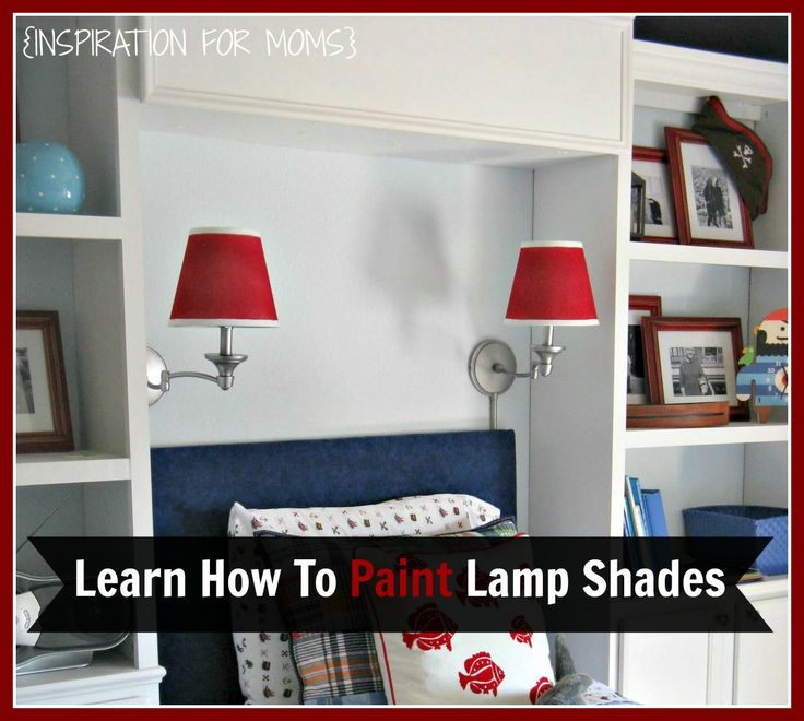 Did you know you could spray paint your lamp shades? Learn how with this easy tutorial!