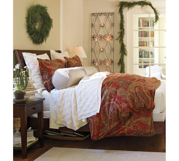 Pottery barn caroline paisley duvet cover perfect for - Pottery barn master bedroom ideas ...