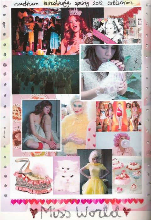 drawing directly from the process of growing up in its most superficial form and using icons like courtney love and pageant queens meadham kirchoff created a youthful and vibrant collection