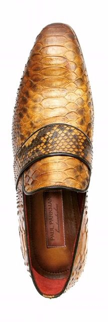 PAUL PARKMAN MEN'S GENUINE PYTHON LOAFERS CAMEL   Website : www.paulparkman.com