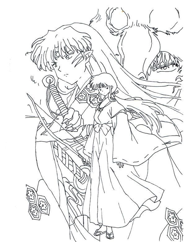 Inuyasha Coloring Pages Super Coloring Pages Cute Coloring Pages Coloring Pages